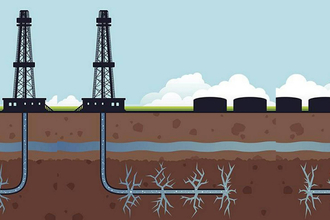 graphic of fracking