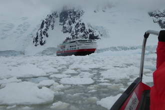 Cruise ship in the Antarctic
