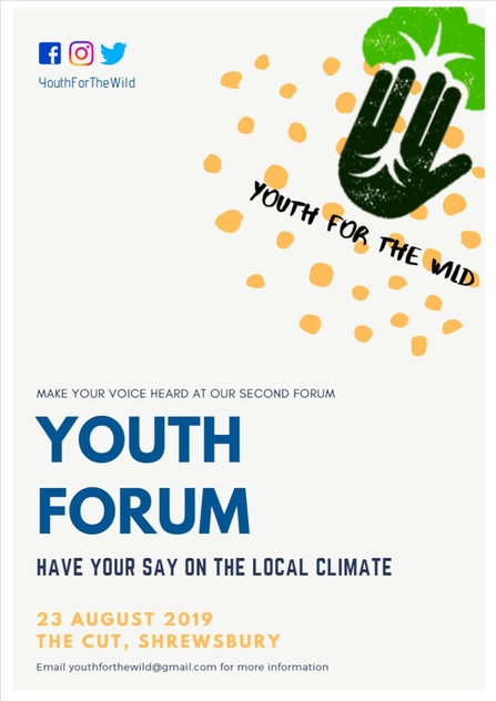 Youth for the wild forum poster